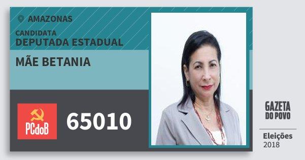 Santinho Mãe Betania 65010 (PC do B) Deputada Estadual | Amazonas | Eleições 2018