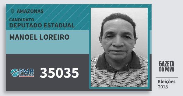 Santinho Manoel Loreiro 35035 (PMB) Deputado Estadual | Amazonas | Eleições 2018