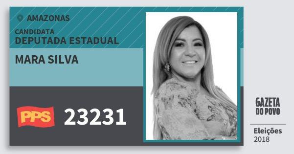 Santinho Mara Silva 23231 (PPS) Deputada Estadual | Amazonas | Eleições 2018