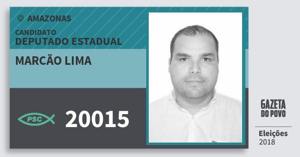 Santinho Marcão Lima 20015 (PSC) Deputado Estadual | Amazonas | Eleições 2018