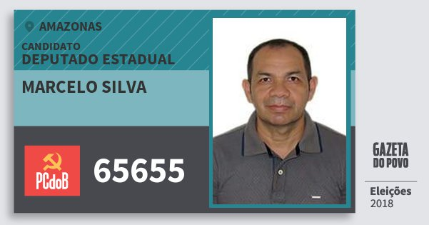 Santinho Marcelo Silva 65655 (PC do B) Deputado Estadual | Amazonas | Eleições 2018