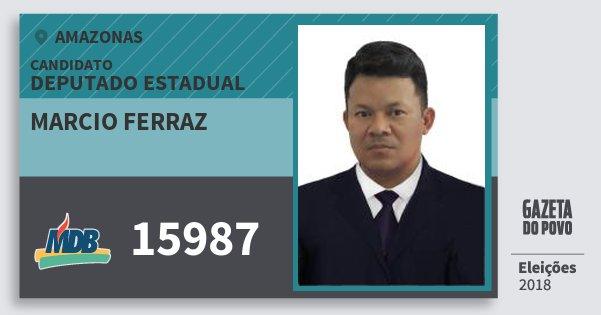 Santinho Marcio Ferraz 15987 (MDB) Deputado Estadual | Amazonas | Eleições 2018