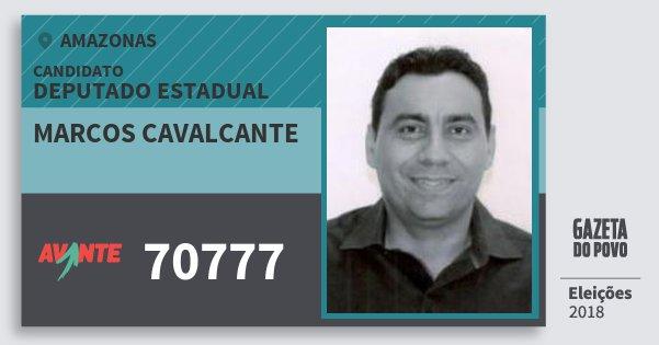 Santinho Marcos Cavalcante 70777 (AVANTE) Deputado Estadual | Amazonas | Eleições 2018