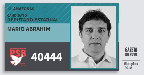 Santinho Mario Abrahim 40444 (PSB) Deputado Estadual | Amazonas | Eleições 2018