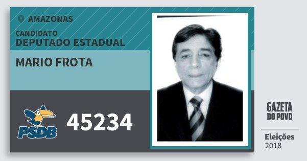 Santinho Mario Frota 45234 (PSDB) Deputado Estadual | Amazonas | Eleições 2018