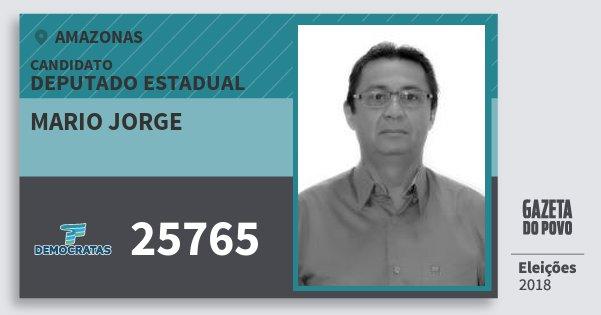 Santinho Mario Jorge 25765 (DEM) Deputado Estadual | Amazonas | Eleições 2018