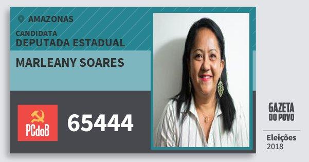 Santinho Marleany Soares 65444 (PC do B) Deputada Estadual | Amazonas | Eleições 2018