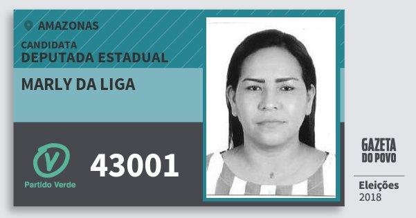 Santinho Marly da Liga 43001 (PV) Deputada Estadual | Amazonas | Eleições 2018