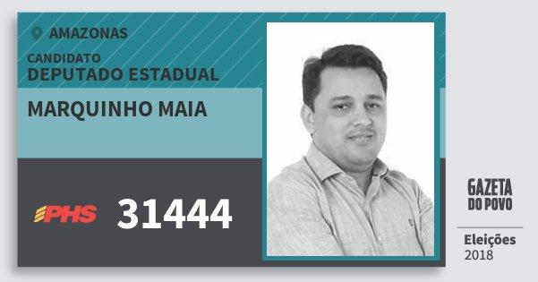 Santinho Marquinho Maia 31444 (PHS) Deputado Estadual | Amazonas | Eleições 2018
