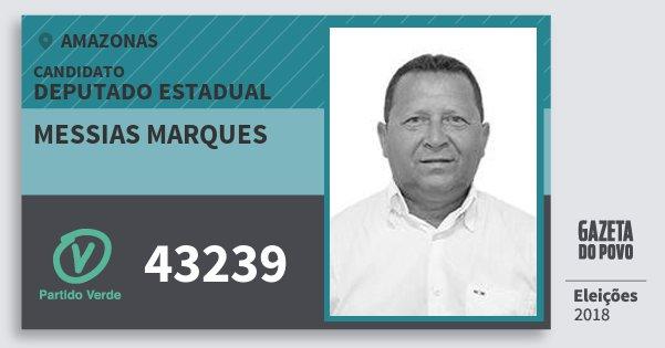 Santinho Messias Marques 43239 (PV) Deputado Estadual | Amazonas | Eleições 2018