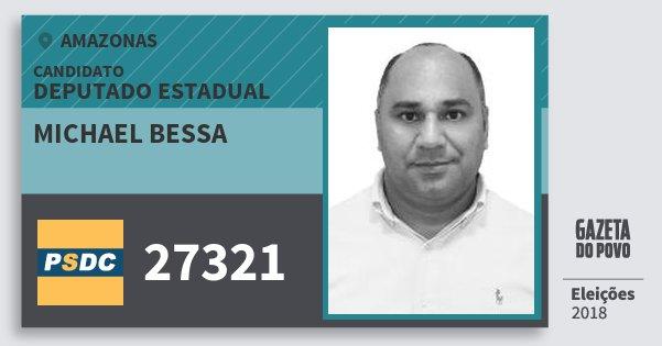 Santinho Michael Bessa 27321 (DC) Deputado Estadual | Amazonas | Eleições 2018