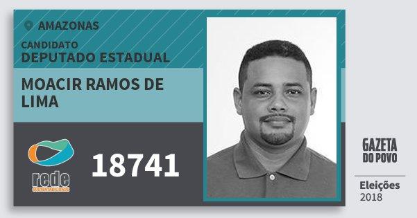 Santinho Moacir Ramos de Lima 18741 (REDE) Deputado Estadual | Amazonas | Eleições 2018