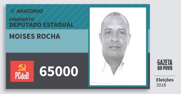 Santinho Moises Rocha 65000 (PC do B) Deputado Estadual | Amazonas | Eleições 2018