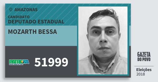 Santinho Mozarth Bessa 51999 (PATRI) Deputado Estadual | Amazonas | Eleições 2018