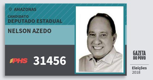 Santinho Nelson Azedo 31456 (PHS) Deputado Estadual | Amazonas | Eleições 2018