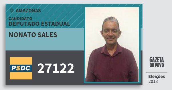 Santinho Nonato Sales 27122 (DC) Deputado Estadual | Amazonas | Eleições 2018