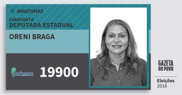 Santinho Oreni Braga 19900 (PODE) Deputada Estadual | Amazonas | Eleições 2018