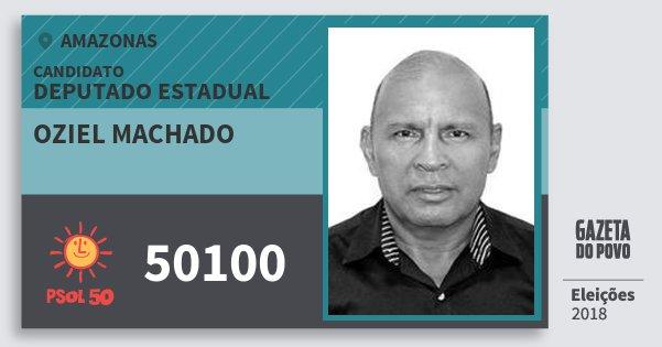 Santinho Oziel Machado 50100 (PSOL) Deputado Estadual | Amazonas | Eleições 2018