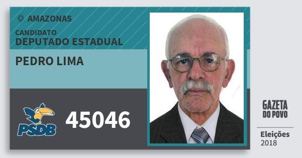 Santinho Pedro Lima 45046 (PSDB) Deputado Estadual | Amazonas | Eleições 2018