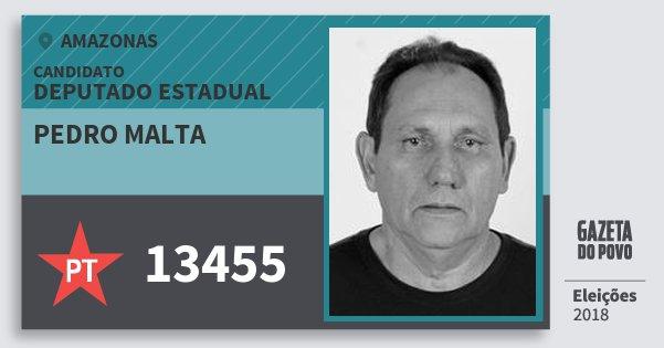 Santinho Pedro Malta 13455 (PT) Deputado Estadual | Amazonas | Eleições 2018