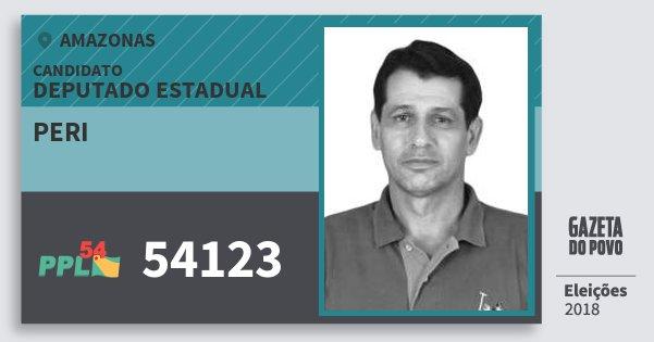 Santinho Peri 54123 (PPL) Deputado Estadual | Amazonas | Eleições 2018