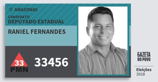 Santinho Raniel Fernandes 33456 (PMN) Deputado Estadual | Amazonas | Eleições 2018