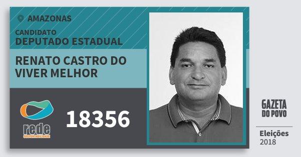Santinho Renato Castro do Viver Melhor 18356 (REDE) Deputado Estadual | Amazonas | Eleições 2018
