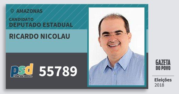 Santinho Ricardo Nicolau 55789 (PSD) Deputado Estadual | Amazonas | Eleições 2018