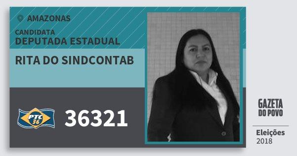 Santinho Rita do Sindcontab 36321 (PTC) Deputada Estadual | Amazonas | Eleições 2018