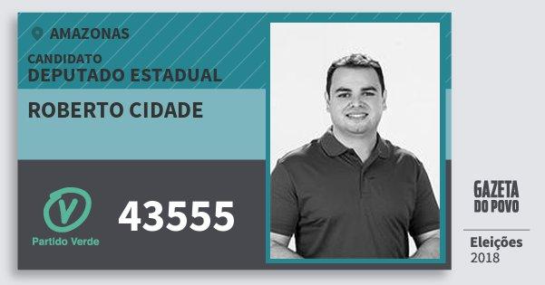 Santinho Roberto Cidade 43555 (PV) Deputado Estadual | Amazonas | Eleições 2018