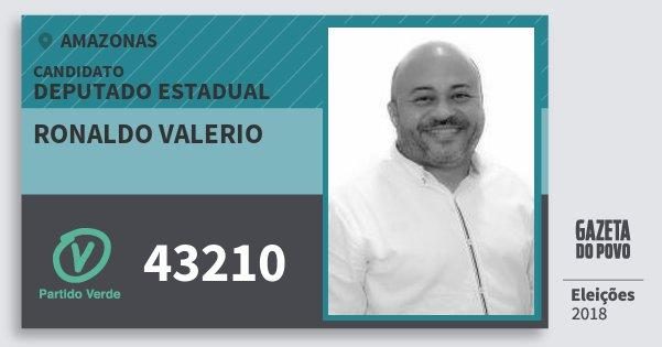 Santinho Ronaldo Valerio 43210 (PV) Deputado Estadual | Amazonas | Eleições 2018