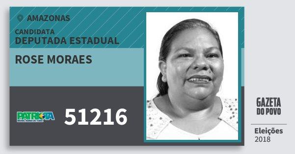 Santinho Rose Moraes 51216 (PATRI) Deputada Estadual | Amazonas | Eleições 2018