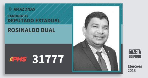 Santinho Rosinaldo Bual 31777 (PHS) Deputado Estadual | Amazonas | Eleições 2018