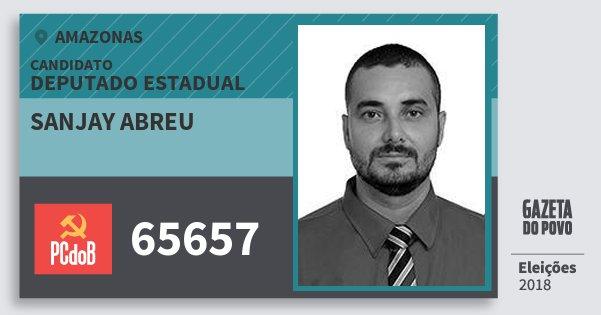 Santinho Sanjay Abreu 65657 (PC do B) Deputado Estadual | Amazonas | Eleições 2018