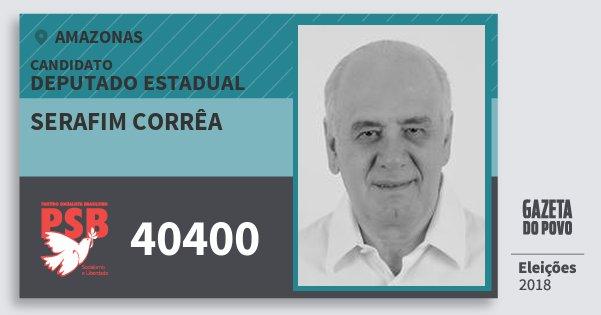Santinho Serafim Corrêa 40400 (PSB) Deputado Estadual   Amazonas   Eleições 2018