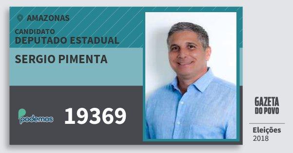 Santinho Sergio Pimenta 19369 (PODE) Deputado Estadual | Amazonas | Eleições 2018
