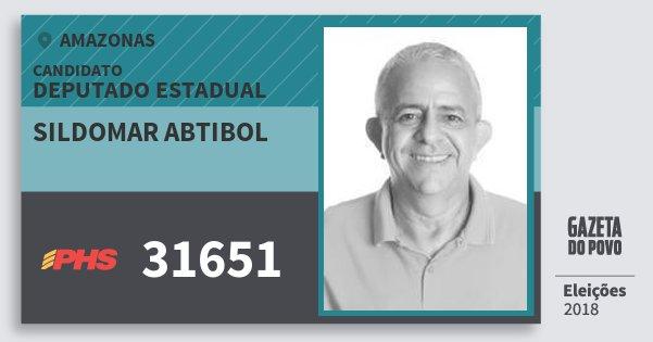 Santinho Sildomar Abtibol 31651 (PHS) Deputado Estadual | Amazonas | Eleições 2018