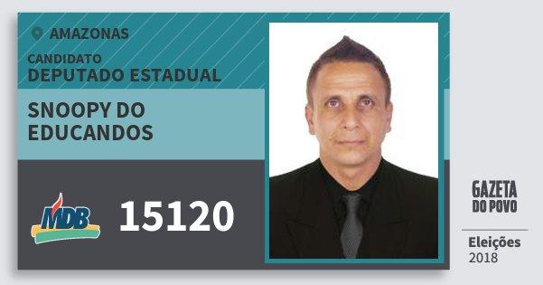 Santinho Snoopy do Educandos 15120 (MDB) Deputado Estadual | Amazonas | Eleições 2018