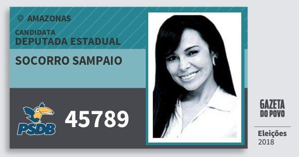 Santinho Socorro Sampaio 45789 (PSDB) Deputada Estadual | Amazonas | Eleições 2018