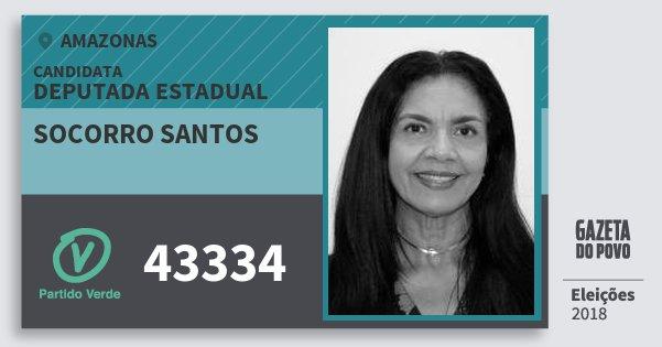 Santinho Socorro Santos 43334 (PV) Deputada Estadual | Amazonas | Eleições 2018