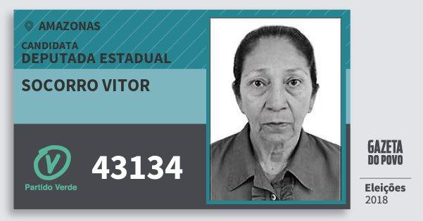 Santinho Socorro Vitor 43134 (PV) Deputada Estadual | Amazonas | Eleições 2018