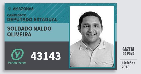 Santinho Soldado Naldo Oliveira 43143 (PV) Deputado Estadual | Amazonas | Eleições 2018