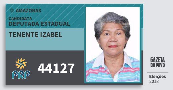 Santinho Tenente Izabel 44127 (PRP) Deputada Estadual | Amazonas | Eleições 2018