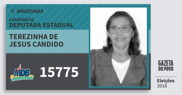Santinho Terezinha de Jesus Candido 15775 (MDB) Deputada Estadual | Amazonas | Eleições 2018