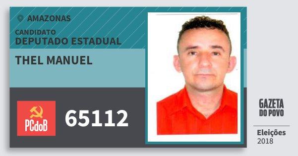 Santinho Thel Manuel 65112 (PC do B) Deputado Estadual   Amazonas   Eleições 2018