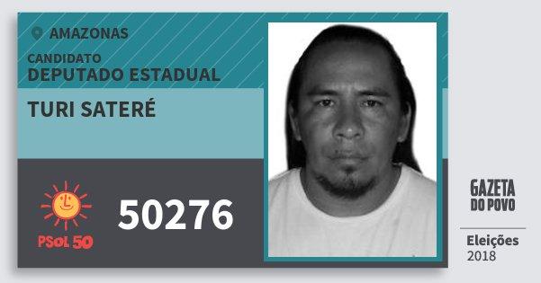 Santinho Turi Sateré 50276 (PSOL) Deputado Estadual | Amazonas | Eleições 2018