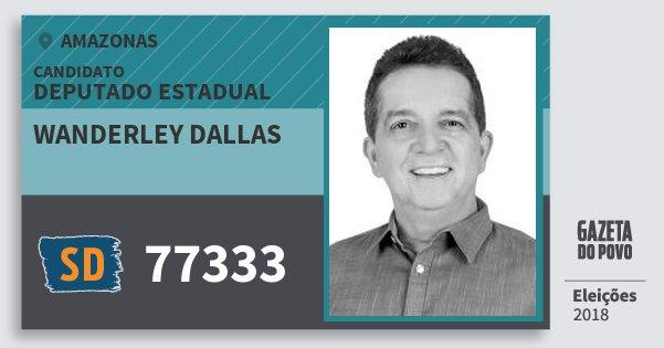 Santinho Wanderley Dallas 77333 (SOLIDARIEDADE) Deputado Estadual | Amazonas | Eleições 2018