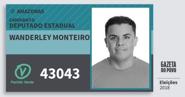 Santinho Wanderley Monteiro 43043 (PV) Deputado Estadual | Amazonas | Eleições 2018
