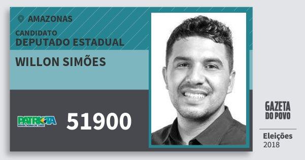 Santinho Willon Simões 51900 (PATRI) Deputado Estadual | Amazonas | Eleições 2018