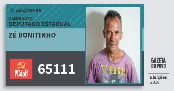 Santinho Zé Bonitinho 65111 (PC do B) Deputado Estadual | Amazonas | Eleições 2018